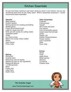 kitchen essentials guide