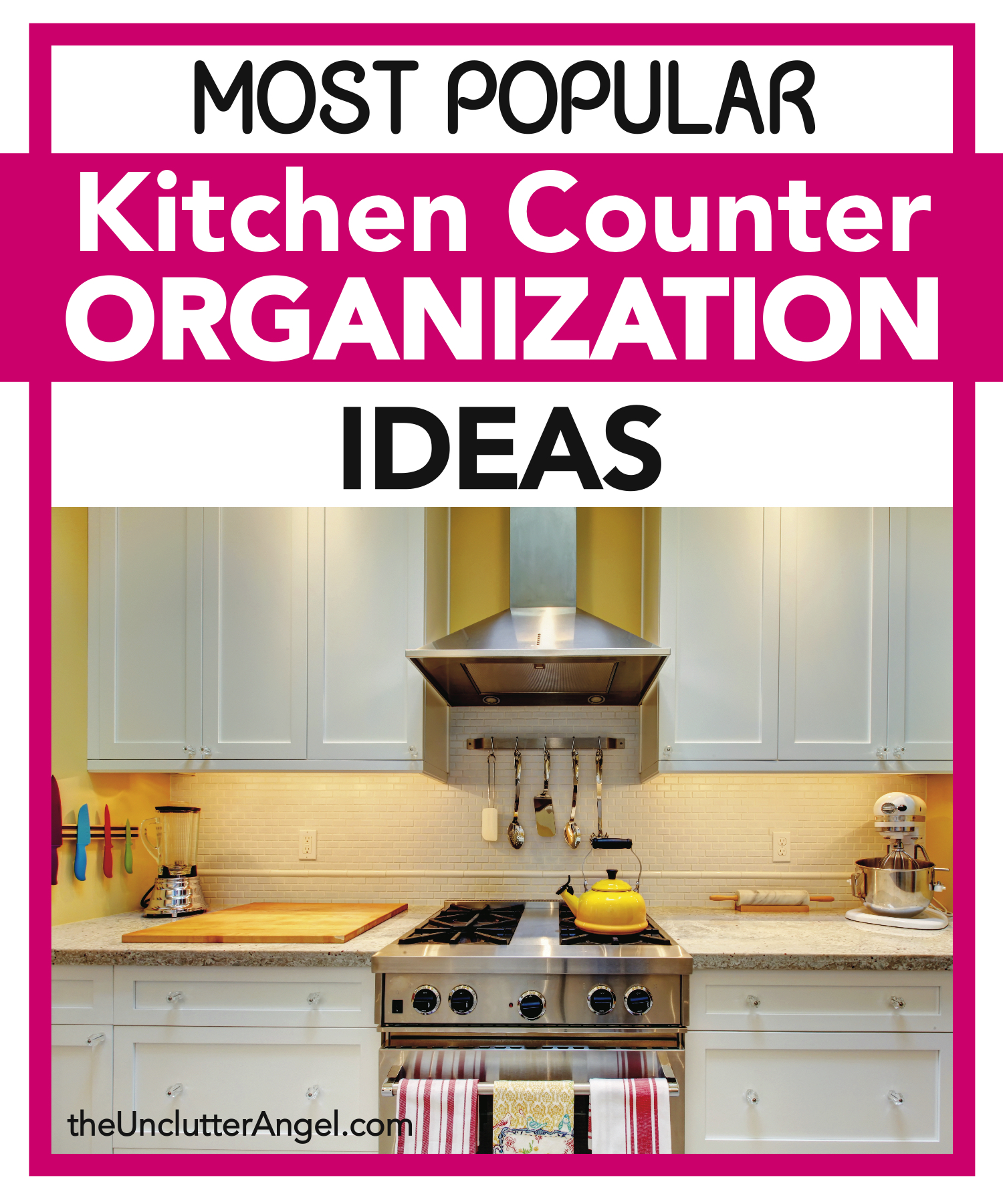 Most popular kitchen counter organization ideas the for Most popular kitchen countertops