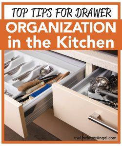 drawer organization in the kitchen