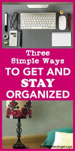 get and stay organize