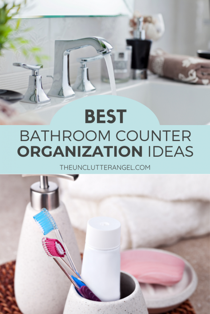 bathroom counter organization