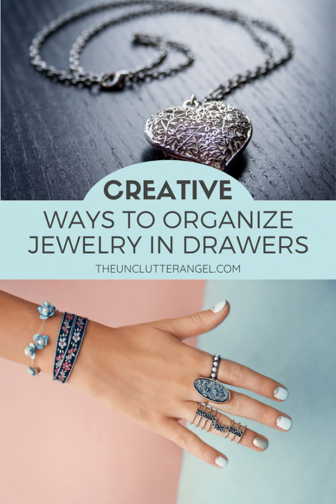 organize jewelry in drawer