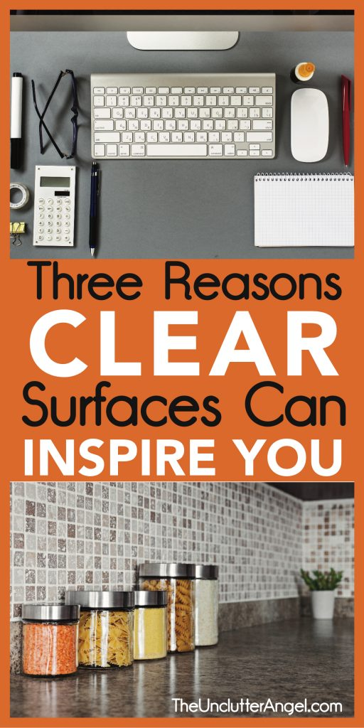clear surfaces can inspire you