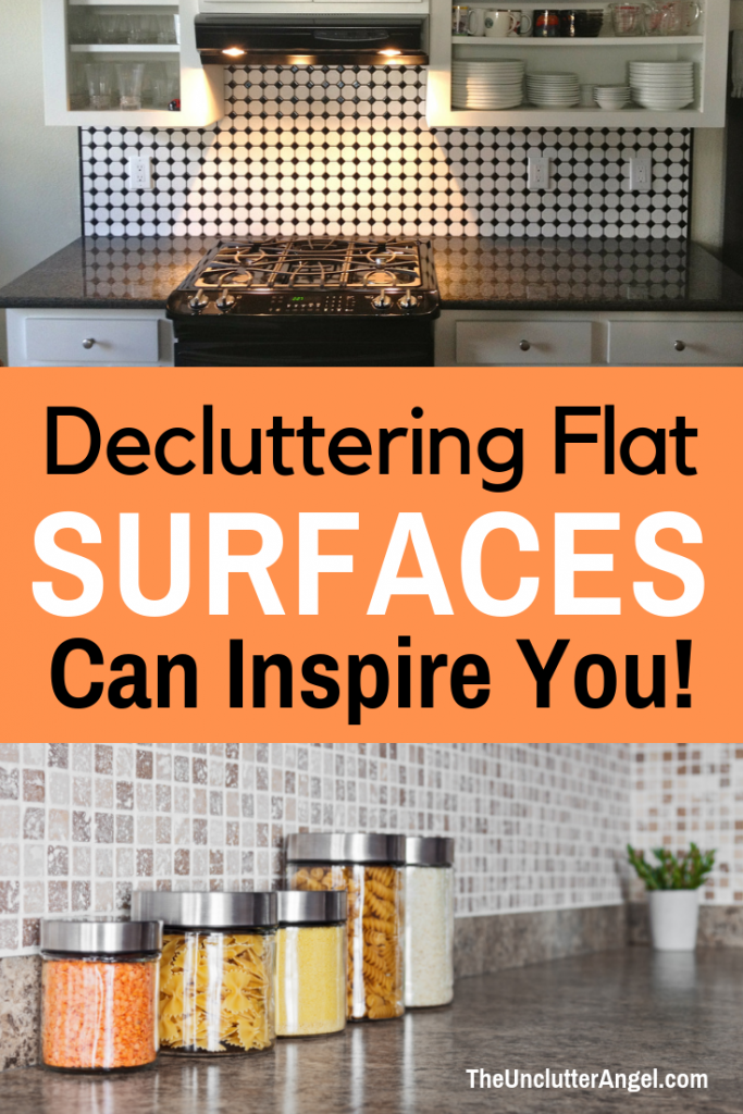 declutter flat surfaces
