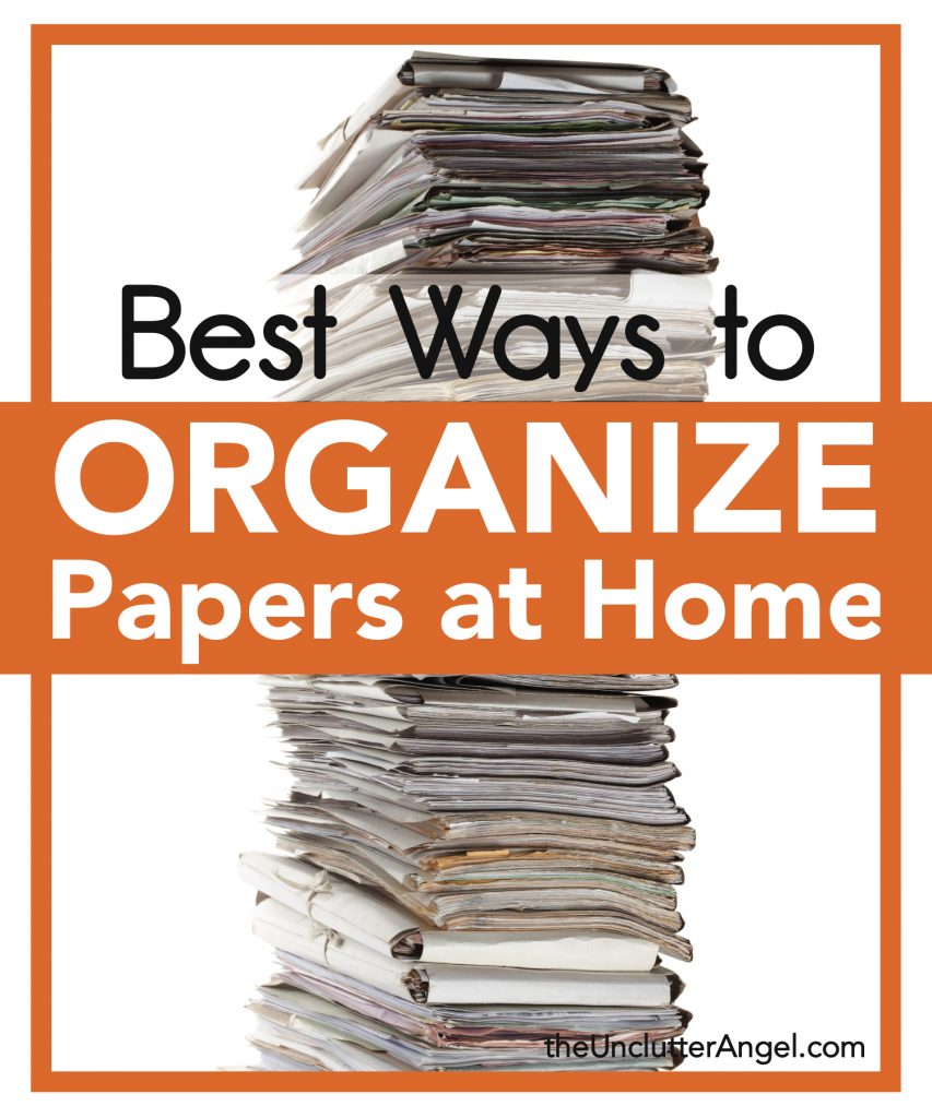 organize papers at home