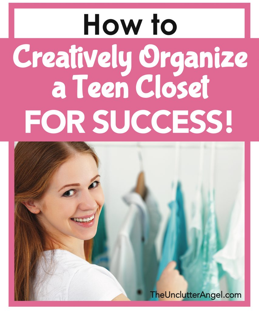organize teen closet