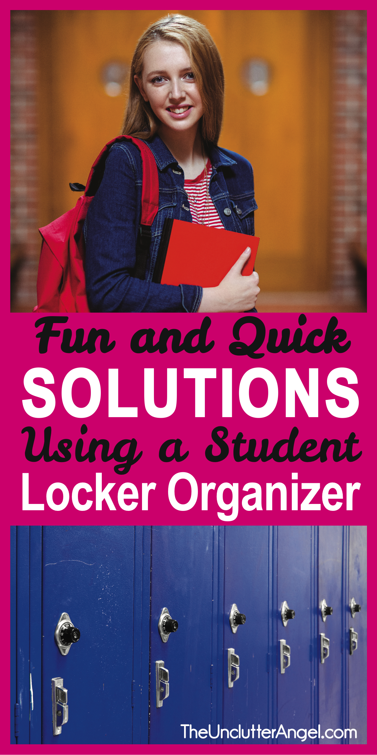 Fun & quick solutions using a student locker organizer! Whether you are a neat or messy, there are ways to make your locker successful and stress free!