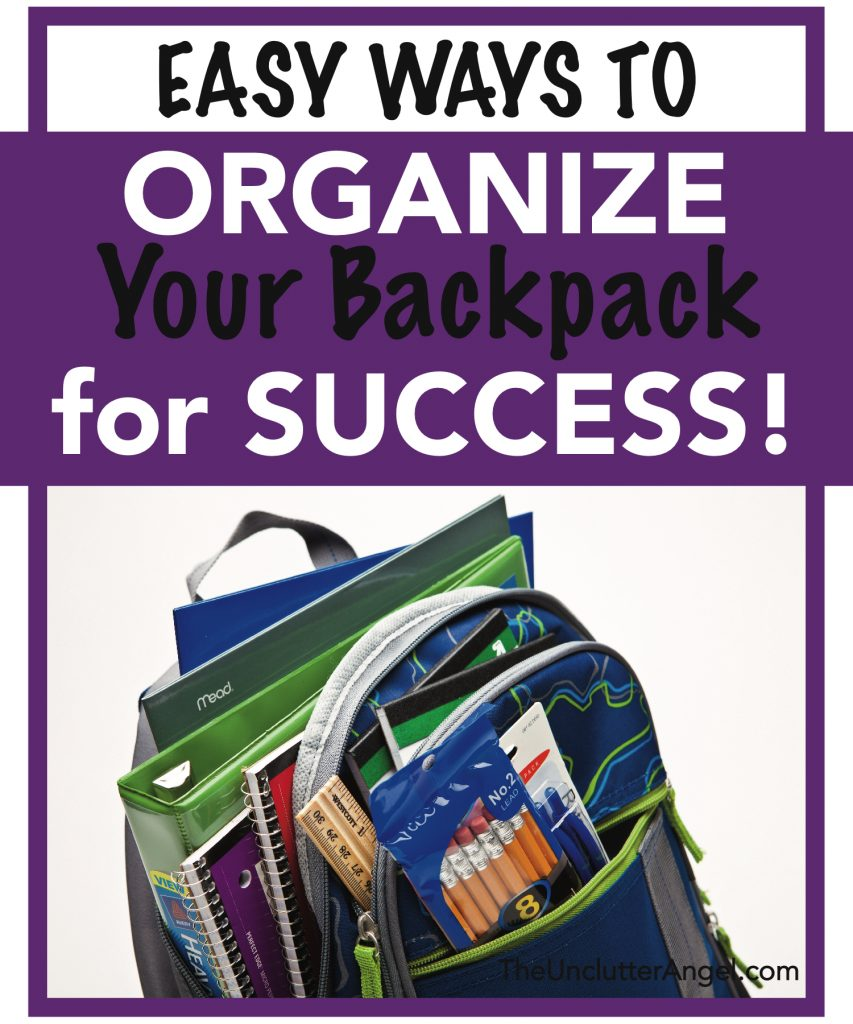 ways organize your backpack