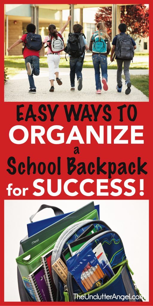 organize school backpack