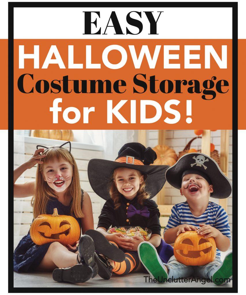 halloween costume storage for kids