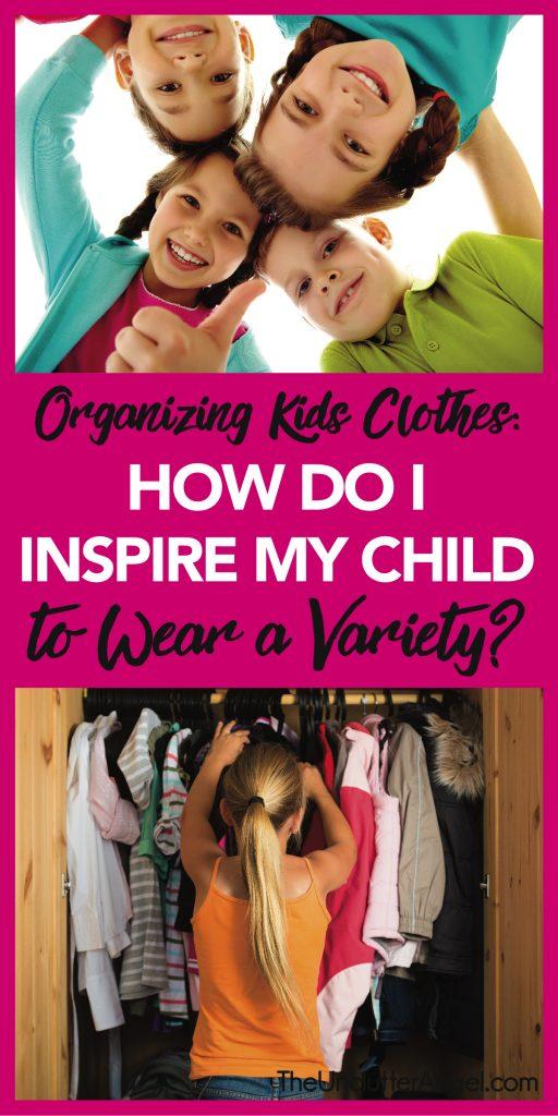 organize kids closet