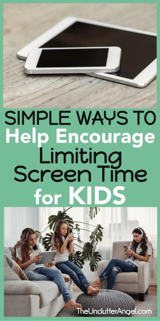 limiting screen time kids