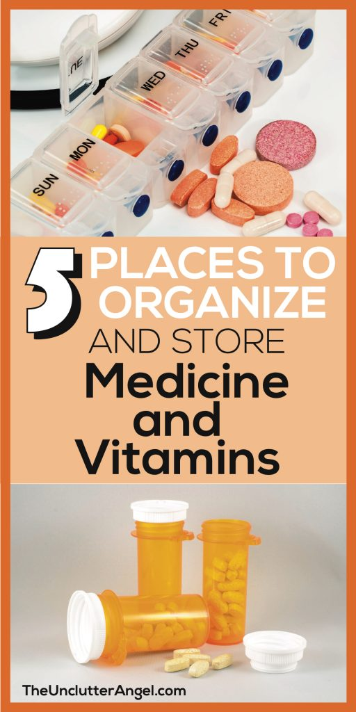 organize medicine and vitamins
