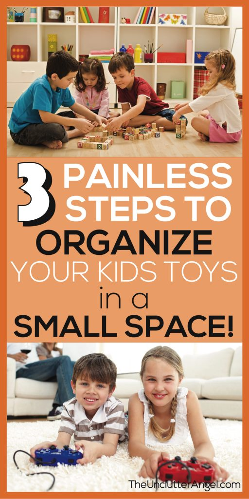 Organize kids toys in a small space with storage