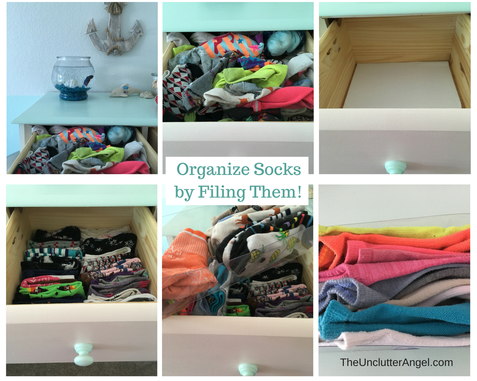 Organize kids sock drawer
