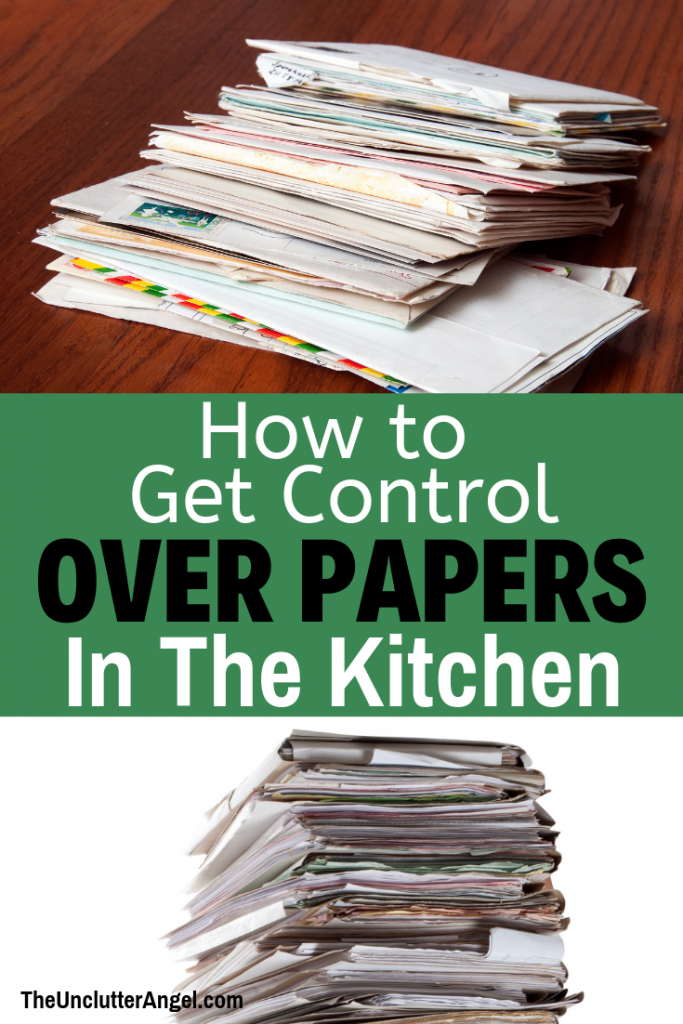 Papers in the kitchen