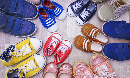 organize shoes