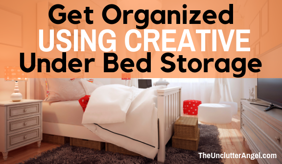 Get organized with under bed storage